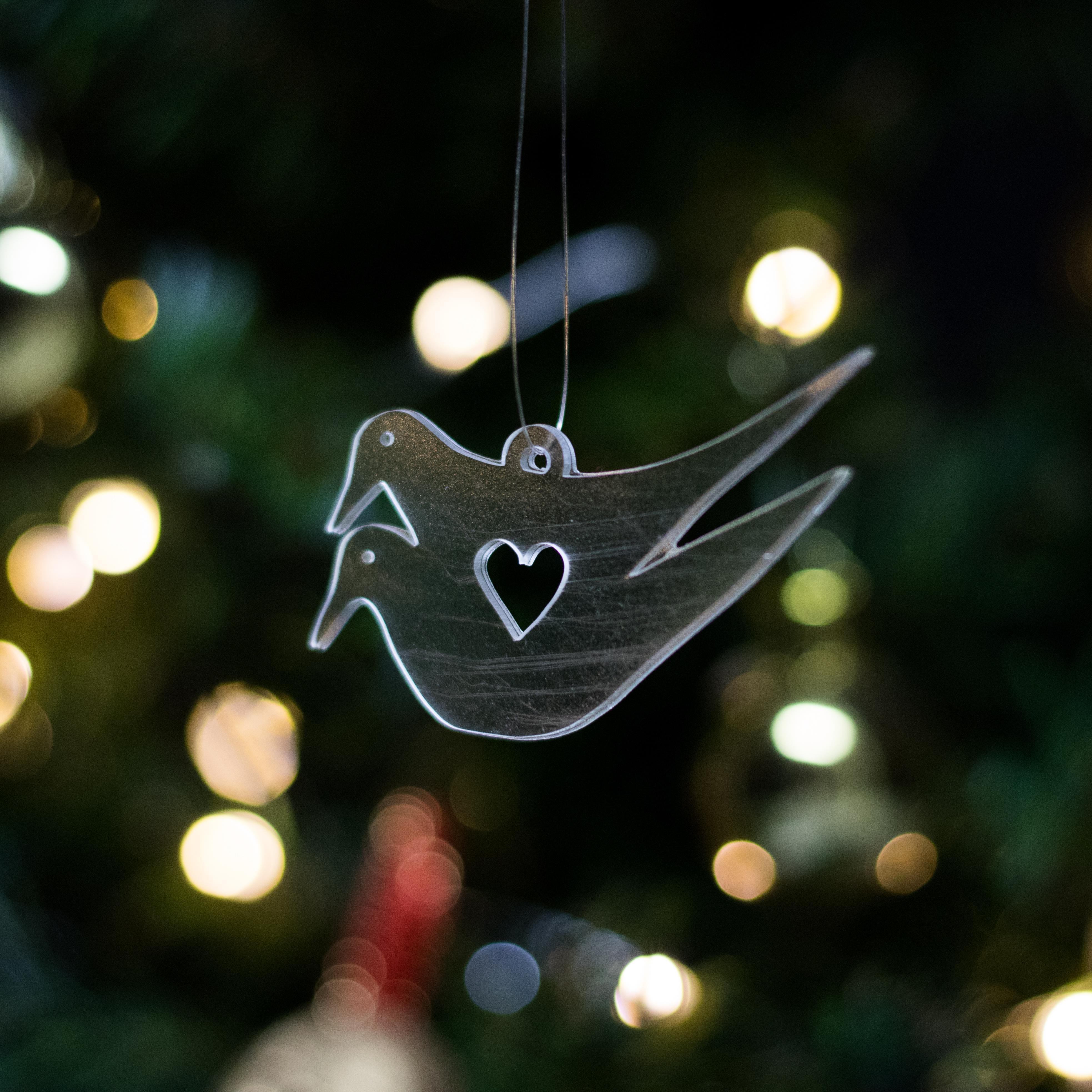 Vánoční ozdoba hrdličky